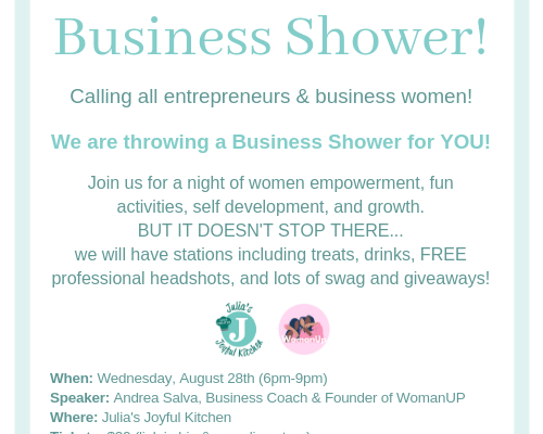 Business Shower!